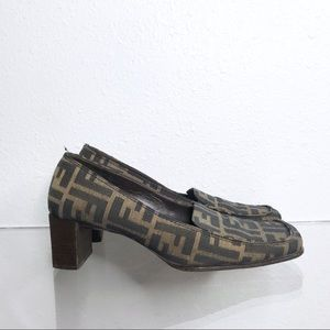 Fendi Zucca Print Loafers Shoes